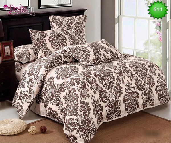 Спално бельо от 100% памук, 6 части, двулицево с код 611