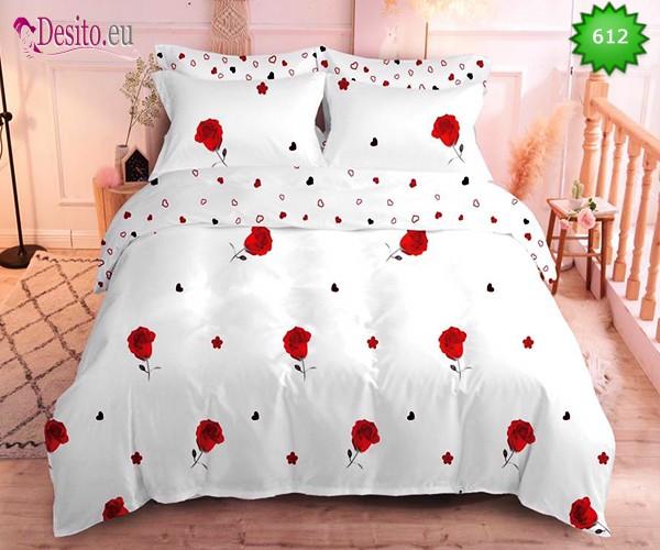 Спално бельо от 100% памук, 6 части, двулицево с код 612