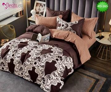 Спално бельо от 100% памук, 6 части, двулицево с код M3-265