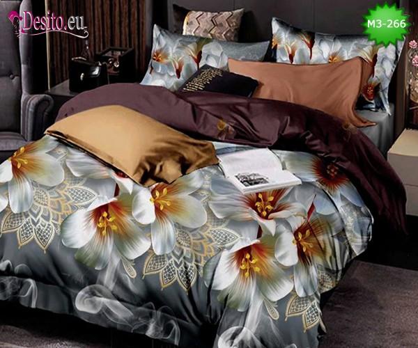 Спално бельо от 100% памук, 6 части, двулицево с код M3-266