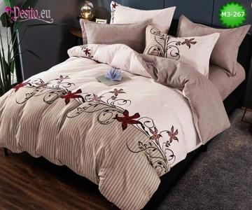 Спално бельо от 100% памук, 6 части, двулицево с код M3-267
