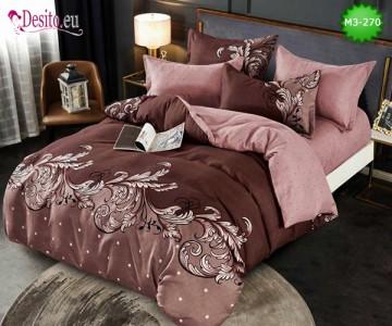Спално бельо от 100% памук, 6 части, двулицево с код M3-270