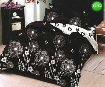 Спално бельо от 100% памук, 6 части - двулицево, с код T2-52