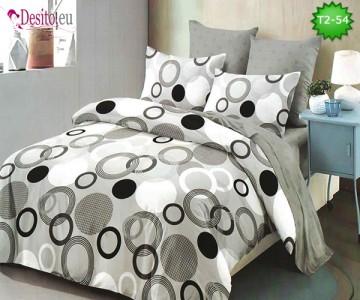 Спално бельо от 100% памук, 6 части - двулицево, с код T2-54