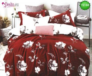 Спално бельо от 100% памук, 6 части - двулицево, с код T2-68