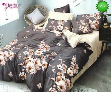 Спално бельо от 100% памук, 6 части - двулицево, с код T2-70