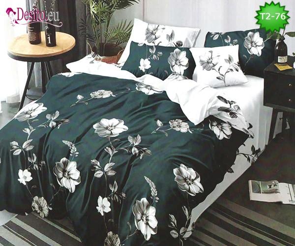 Спално бельо от 100% памук, 6 части - двулицево, с код T2-76