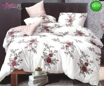 Спално бельо от 100% памук, 6 части - двулицево, с код T2-77