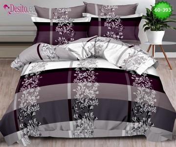 Спално бельо от 100% памук, 6 части, двулицево с код 60-393