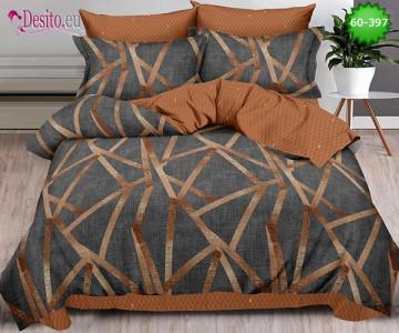 Спално бельо от 100% памук, 6 части, двулицево с код 60-397