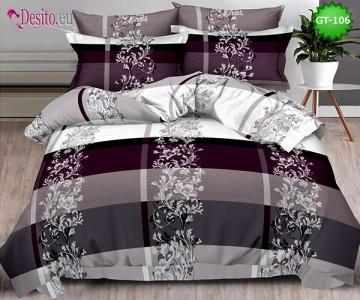Спално бельо от 100% памук, 6 части и чаршаф с ластик с код GT-106