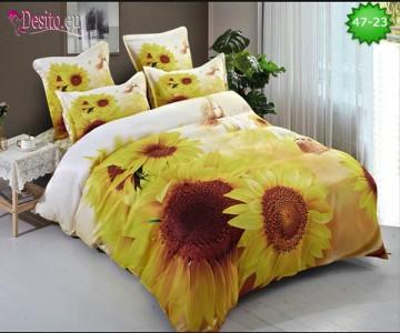 Спално бельо от 100% памук, 6 части, двулицево с код 47-23
