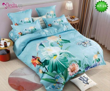 Спално бельо от 100% памук, 6 части, двулицево с код 47-24