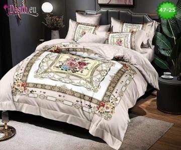 Спално бельо от 100% памук, 6 части, двулицево с код 47-25