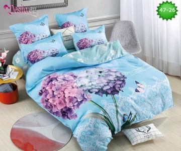 Спално бельо от 100% памук, 6 части, двулицево с код 47-26