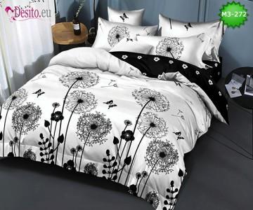 Спално бельо от 100% памук, 6 части, двулицево с код M3-272