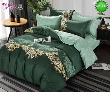 Спално бельо от 100% памук, 6 части, двулицево с код M3-276