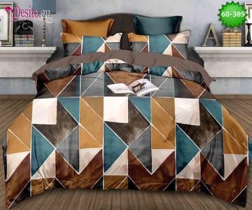 Спално бельо от 100% памук, 6 части, двулицево с код 60-389