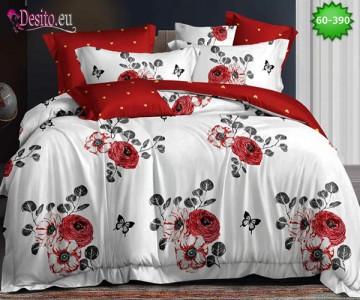 Спално бельо от 100% памук, 6 части, двулицево с код 60-390