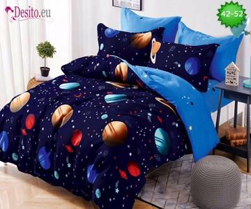 Спално бельо от 100% памук, 6 части и чаршаф с ластик с код 42-52