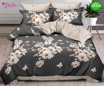 Спално бельо от 100% памук, 6 части и чаршаф с ластик с код GT-108