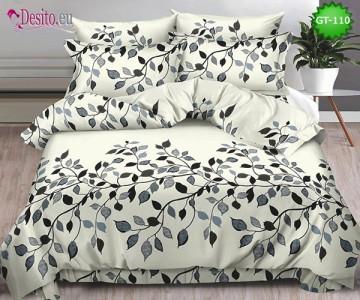 Спално бельо от 100% памук, 6 части и чаршаф с ластик с код GT-110