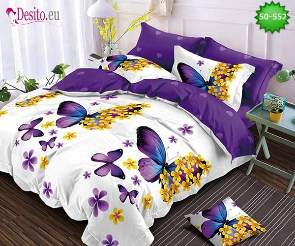 Двулицево спално бельо от 100% памук, 4 части с код 50-552