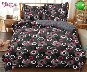 Спално бельо от 100% памук, 6 части и чаршаф с ластик с код GT-119