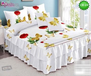 Спално бельо от 100% памук, 6 части, с код C8-24
