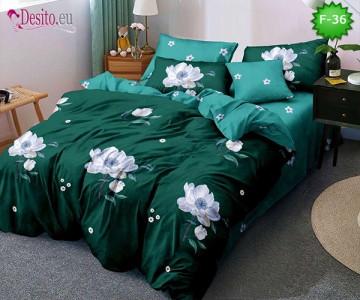 Единично спално бельо 100% памук, 4 части с код F-36