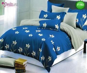 Единично спално бельо 100% памук, 4 части с код F-40