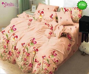 Единично спално бельо 100% памук, 4 части с код F-42