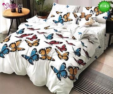 Единично спално бельо 100% памук, 4 части с код F-43