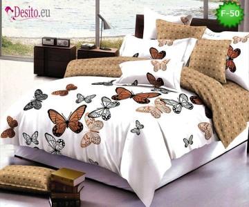 Единично спално бельо 100% памук, 4 части с код F-50