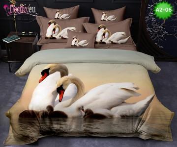 Спално бельо от 100% памук, 6 части с код A2-06
