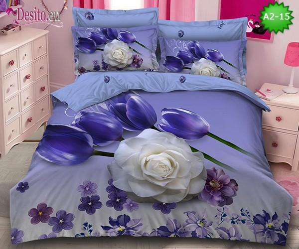 Спално бельо от 100% памук, 6 части с код A2-15