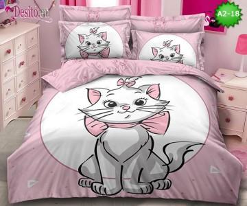 Спално бельо от 100% памук, 6 части с код A2-18
