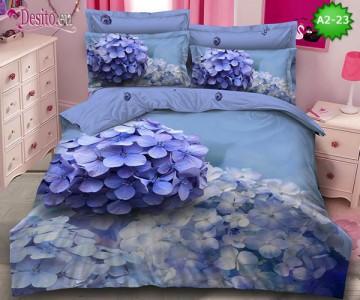 Спално бельо от 100% памук, 6 части с код A2-23