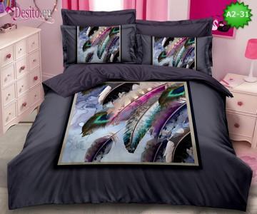 Спално бельо от 100% памук, 6 части с код A2-31