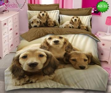 Спално бельо от 100% памук, 6 части с код A2-32