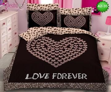 Спално бельо от 100% памук, 6 части с код A2-35