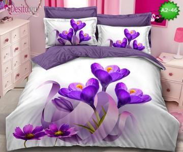 Спално бельо от 100% памук, 6 части с код A2-46