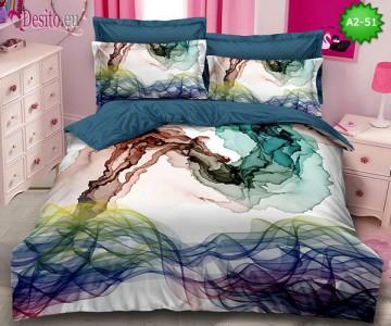 Спално бельо от 100% памук, 6 части с код A2-51