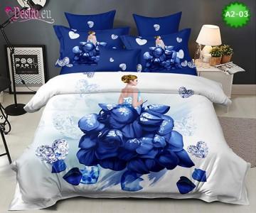 Спално бельо от 100% памук, 6 части с код A2-03