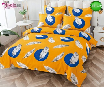 Спално бельо от 100% памук, 6 части и чаршаф с ластик с код 66-19