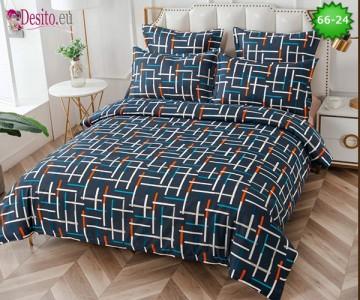 Спално бельо от 100% памук, 6 части и чаршаф с ластик с код 66-24