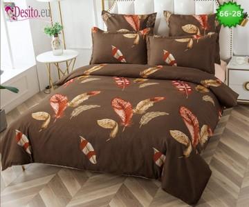 Спално бельо от 100% памук, 6 части и чаршаф с ластик с код 66-28
