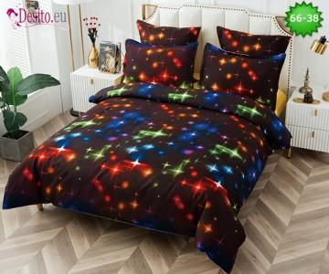 Спално бельо от 100% памук, 6 части и чаршаф с ластик с код 66-38