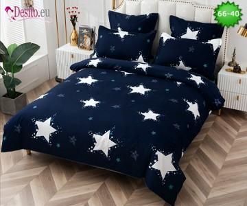 Спално бельо от 100% памук, 6 части и чаршаф с ластик с код 66-40