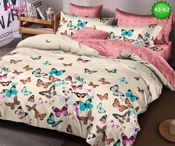Спално бельо от 100% памук, 6 части и чаршаф с ластик с код 42-62